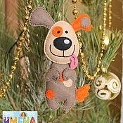 Материалы для творчества manualidades. Livemaster - hecho a mano El perro, el patrón para la confección de juguetes de fieltro. Handmade.