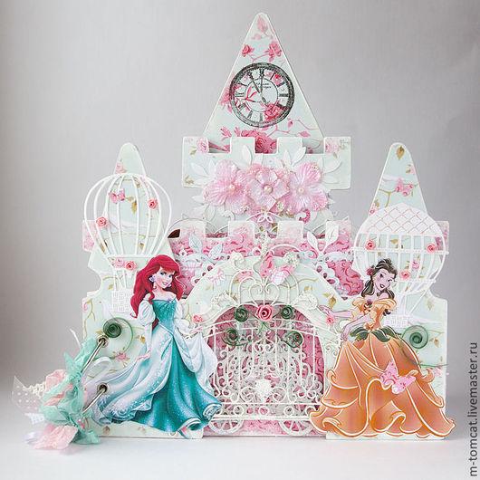 """Фотоальбомы ручной работы. Ярмарка Мастеров - ручная работа. Купить Мини-альбом """"Замок для принцессы"""". Handmade. Розовый, подарок девочке"""