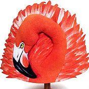 """Для дома и интерьера ручной работы. Ярмарка Мастеров - ручная работа Шапка для бани """"Фламинго"""". Handmade."""
