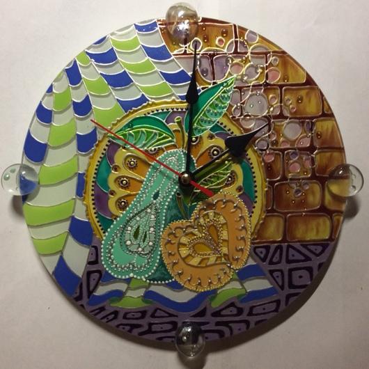Часы для дома ручной работы. Ярмарка Мастеров - ручная работа. Купить Часы кухонные Летний натюрморт. Handmade. Часы