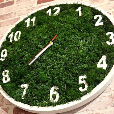 Дизайн и реклама ручной работы. Ярмарка Мастеров - ручная работа Часы из мха. Handmade.