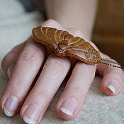 Украшения ручной работы. Ярмарка Мастеров - ручная работа Кольцо деревянное Бабочка. Handmade.