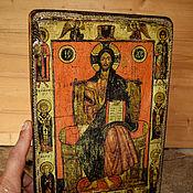 """Картины и панно ручной работы. Ярмарка Мастеров - ручная работа Икона """"Спас на престоле с избранными святыми"""". Handmade."""