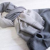 Аксессуары handmade. Livemaster - original item Grey combined Italian stole Barcelo Biagi. Handmade.