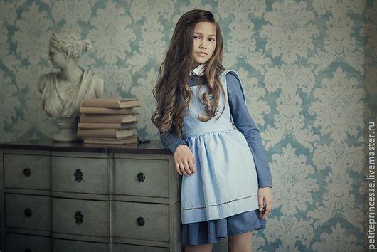"""Одежда для девочек, ручной работы. Ярмарка Мастеров - ручная работа. Купить платье """"Одри"""". Handmade. Тёмно-синий, Платье нарядное"""