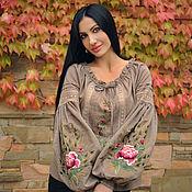 Одежда handmade. Livemaster - original item Blouse with hand embroidery