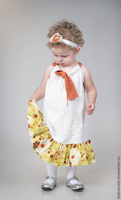 Одежда для девочек, ручной работы. Ярмарка Мастеров - ручная работа. Купить Платье на кулиске. Handmade. Платье, оригинальное платье