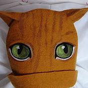 """Для дома и интерьера ручной работы. Ярмарка Мастеров - ручная работа Шапка для бани """"Рыжий кот"""". Handmade."""