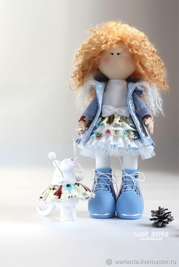 Зима. Кукла текстильная. Игрушка девочка. Джулия, Большеножка, Иркутск,  Фото №1