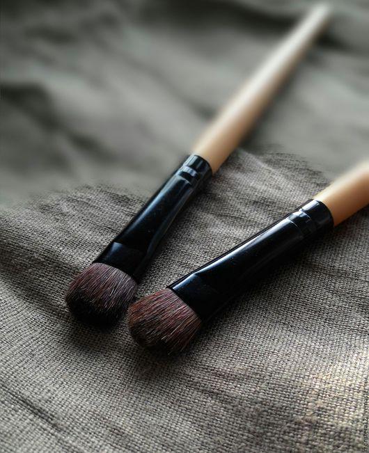 Материалы для косметики ручной работы. Ярмарка Мастеров - ручная работа. Купить Кисть для минерального макияжа(нанесения теней, корректора,консилера. Handmade.