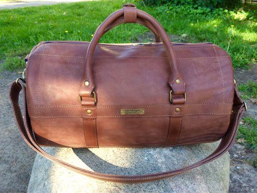 """Спортивные сумки ручной работы. Ярмарка Мастеров - ручная работа. Купить Кожаная сумка- батон """" Номер 3"""". Handmade."""