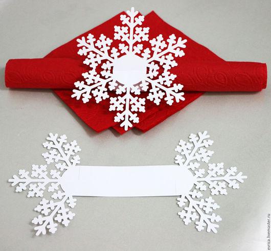 """Кухня ручной работы. Ярмарка Мастеров - ручная работа. Купить """"Снежинка"""" держатель  для салфеток. Handmade. Комбинированный, снежинка, кольцо для салфетки"""