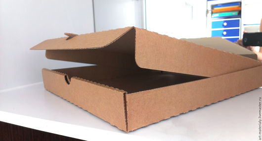 Упаковка ручной работы. Ярмарка Мастеров - ручная работа. Купить Коробка 27Х27Х4 см микрогофрокартон. Handmade. Коричневый, материалы для творчества