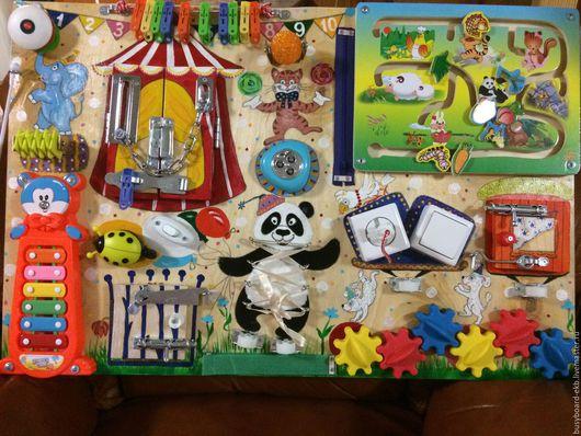 Развивающие игрушки ручной работы. Ярмарка Мастеров - ручная работа. Купить Цирк. Handmade. Комбинированный, бизиборд, сенсорная доска