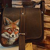 Сумки и аксессуары ручной работы. Ярмарка Мастеров - ручная работа сумка кожаная с лисой. Handmade.