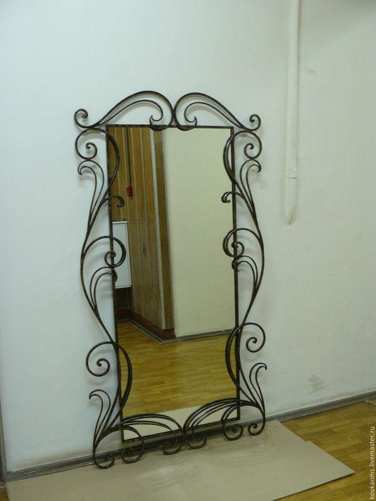 Зеркала ручной работы. Ярмарка Мастеров - ручная работа. Купить Большое зеркало в кованом обрамлении. Handmade. Зеркало, кованые изделия