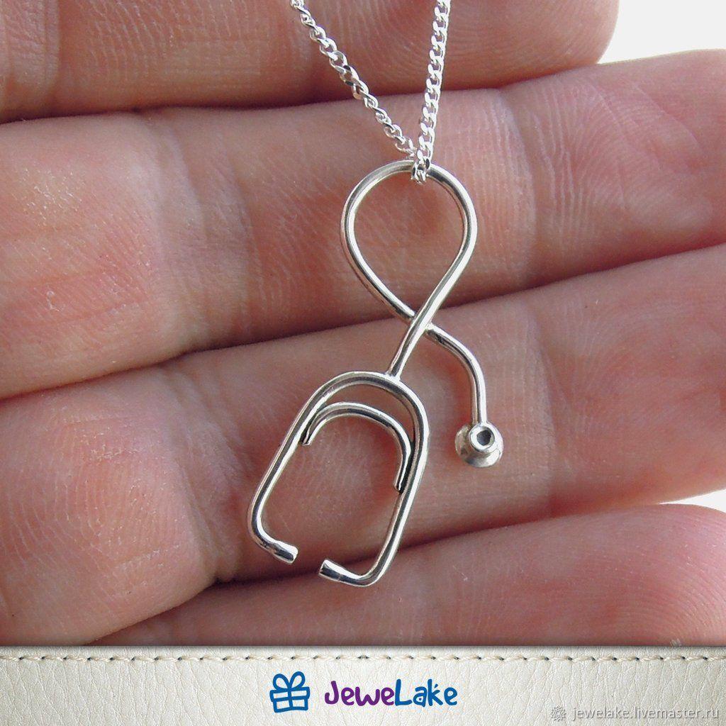Doctor Gift, Nurse Jewelry, Medical jewelry, stethoscope charm, medica, Pendants, Yaroslavl,  Фото №1