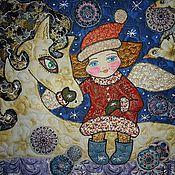 """Картины и панно ручной работы. Ярмарка Мастеров - ручная работа Панно """" Моя белая лошадка"""". Handmade."""