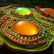 """Украшения ручной работы. Ярмарка Мастеров - ручная работа Колье """"Апельсиновый рай"""". Handmade."""