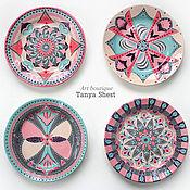 """Посуда handmade. Livemaster - original item Набор тарелок """"Модерн"""" ручная роспись 3 размера на выбор. Handmade."""