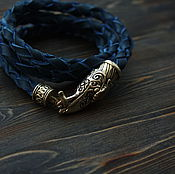 Украшения handmade. Livemaster - original item Men`s bracelet with a bronze crows. Handmade.