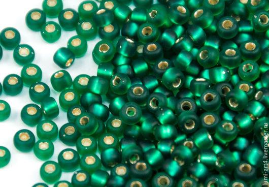 Для украшений ручной работы. Ярмарка Мастеров - ручная работа. Купить Бисер Миюки 8/0 17F Matte Green SL круглый японский бисер Miyuki. Handmade.