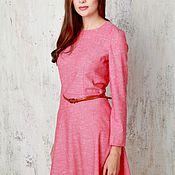 Одежда ручной работы. Ярмарка Мастеров - ручная работа Платье красное приталенное. Handmade.