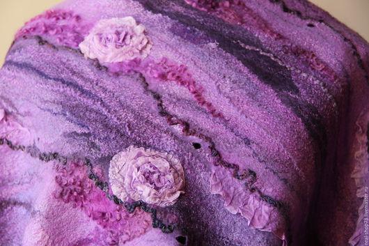 Шали, палантины ручной работы. Ярмарка Мастеров - ручная работа. Купить Палантин  валяный Магия роз. Handmade. Цветочный