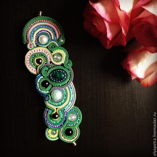 Браслеты ручной работы. Ярмарка Мастеров - ручная работа. Купить Зеленый браслет. Handmade. Болотный, зеленый, зеленый камень, браслет