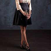 Одежда ручной работы. Ярмарка Мастеров - ручная работа Атласная юбка на высоком поясе, на шнуровке. 5 цветов.. Handmade.