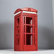 """Для дома и интерьера ручной работы. Ярмарка Мастеров - ручная работа Кормушка """"Телефонная будка"""" маленькая. Handmade."""