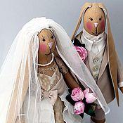 Свадебный салон ручной работы. Ярмарка Мастеров - ручная работа Свадебные зайцы в стиле Тильда. Handmade.