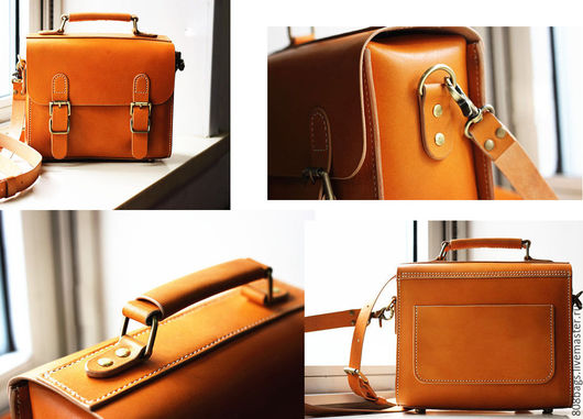 Мужские сумки ручной работы. Ярмарка Мастеров - ручная работа. Купить Выкройка 02_07 портфель среднего размера. Handmade.