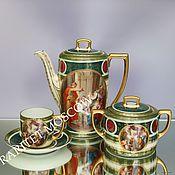 Винтаж ручной работы. Ярмарка Мастеров - ручная работа РЕДКОСТЬ Сервиз чайник сахарница чашка золото 7. Handmade.