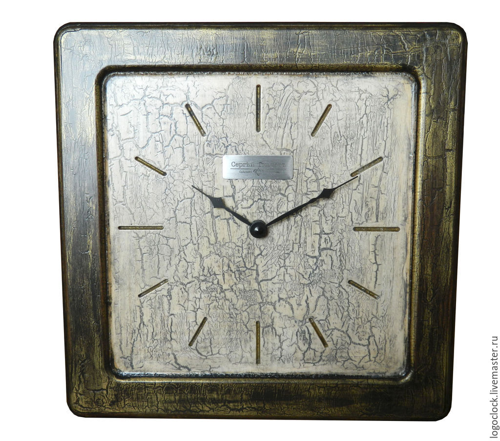 Часы для дома ручной работы. Ярмарка Мастеров - ручная работа. Купить Настенные часы. Старый белый бук. Два. Handmade.