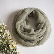 Аксессуары handmade. Livemaster - original item Snudy: Snood knitted from kid-mohair in two turns. Handmade.