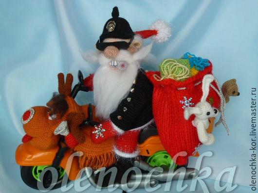 Вязание ручной работы. Ярмарка Мастеров - ручная работа. Купить Master class Santa on a bike / HEAVY-METAL NEW YEAR!!!!. Handmade.
