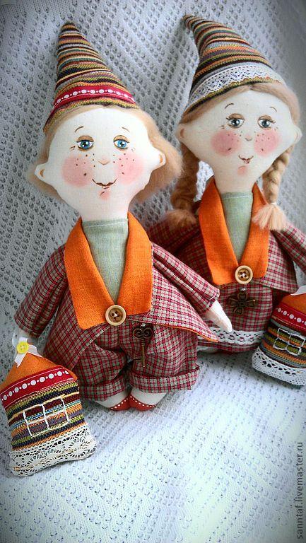Ароматизированные куклы ручной работы. Ярмарка Мастеров - ручная работа. Купить Текстильная кукла гномик. Handmade. Рыжий, украшение для интерьера