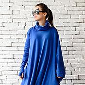 Одежда ручной работы. Ярмарка Мастеров - ручная работа Синее платье, свободное платье. Handmade.