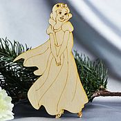 Материалы для творчества handmade. Livemaster - original item Snow white, blank for painting and decoration, pendant. Handmade.