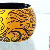 """Украшения ручной работы. Ярмарка Мастеров - ручная работа Браслет """"Цветение на жёлтом"""". Handmade."""