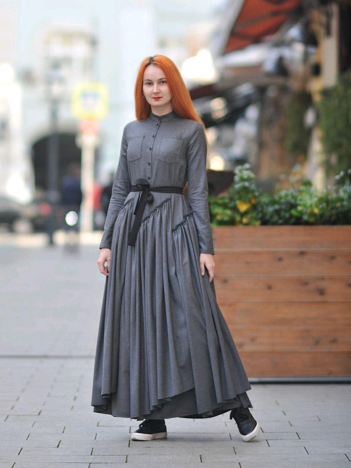 Платье-рубашка в стиле Бохо, Платья, Москва,  Фото №1