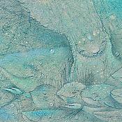 Картины и панно ручной работы. Ярмарка Мастеров - ручная работа Рыбный День. Сказочная картина. Рыбы.. Handmade.