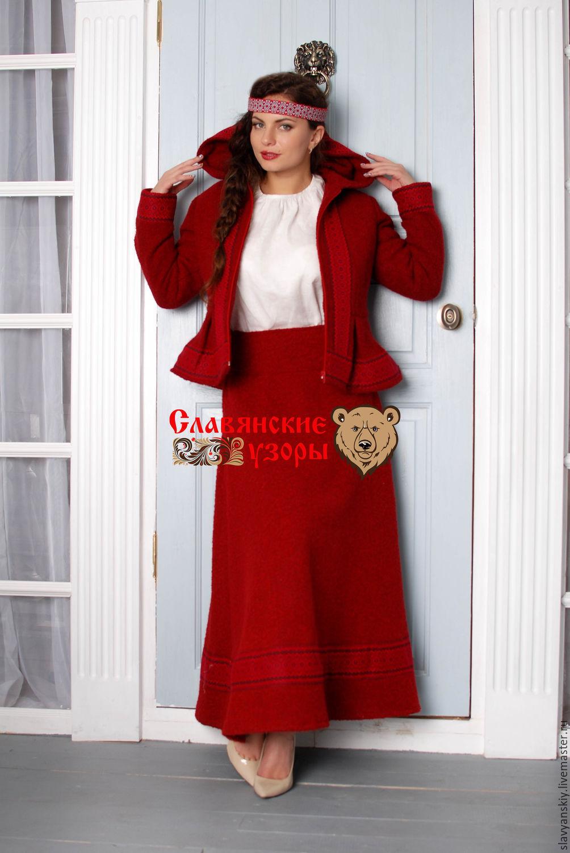 Skirt wool red, Skirts, St. Petersburg,  Фото №1