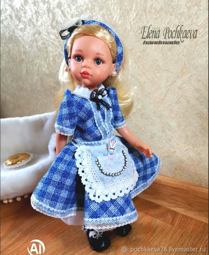 Наряд для Алисы из Страны Чудес, куклам 32-34 см, Одежда для кукол, Иркутск,  Фото №1