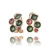 Украшения handmade. Livemaster - original item Dark green earrings for girls