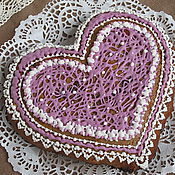 Сувениры и подарки ручной работы. Ярмарка Мастеров - ручная работа Фиолетовое сердце. Handmade.