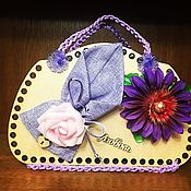 Подарки на 14 февраля ручной работы. Ярмарка Мастеров - ручная работа Корзинка-сумочка. Handmade.