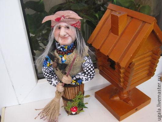 Сказочные персонажи ручной работы. Ярмарка Мастеров - ручная работа. Купить Кукла Баба Яга в ступе. Handmade. Зеленый, Ступа