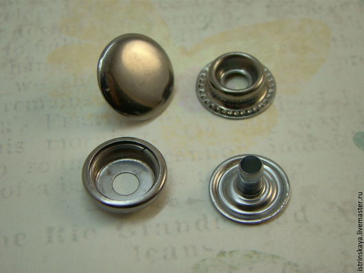Шитье ручной работы. Ярмарка Мастеров - ручная работа. Купить Кнопка кольцевая 15 мм  блэк никель. Handmade. Серебряный